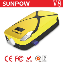 Sunpow emergency tool kit 12V portable car battery jump starter for car and motorcycle