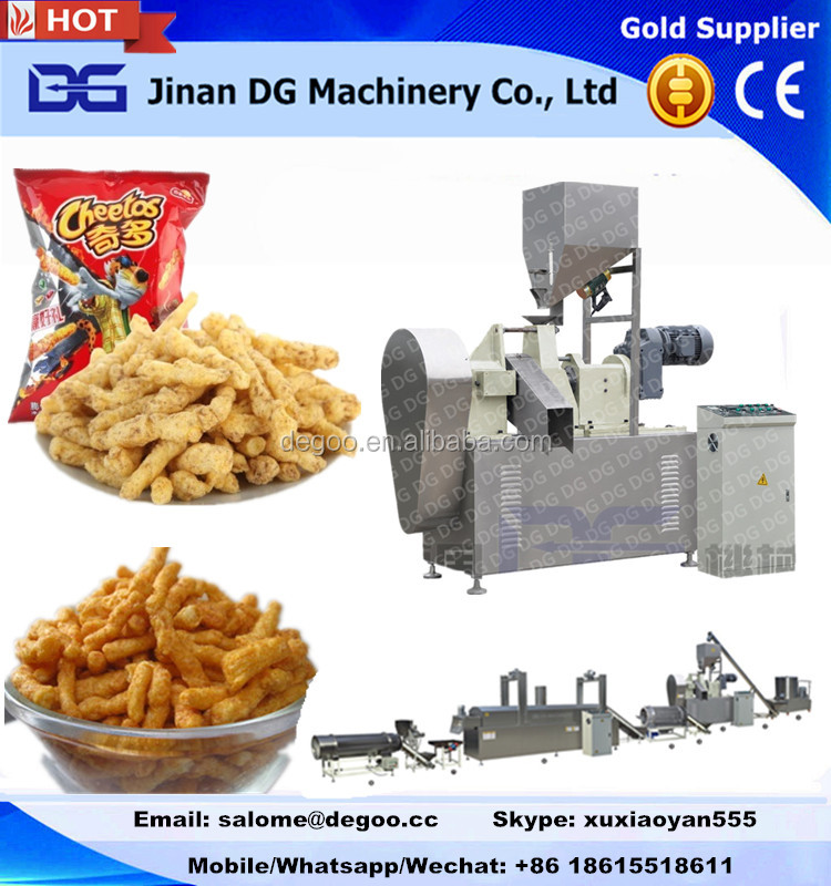 CE Certified Corn puff stick Cheetos Kurkure baking and drying plant from Jinan DG Machinery