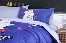 discount bedding for home ALLBRIGHT lovely character authorized kid bedding set satin percale fabric
