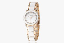 Hot Selling KIMIO Fashion Imitation Ceramic Watch Band Gold Plating Lady Wrist Watches K455L
