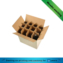 High quality corrugated paper box with compartments for beer packing