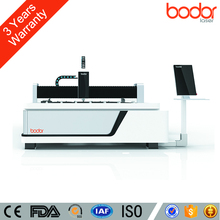 CE FDA Certification Open Type 500w 1500*3000mm Laser Cutting Metal Machine Works