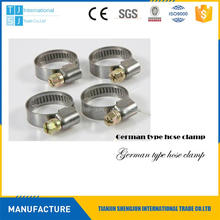 Hot selling automobiles stainless steel german types hose clips with low price