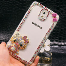 For Samsung Galaxy Note 3 New Arrival Transparent Rhinestone Case