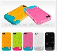 Mobile phone case ICE CREAM melting 2 in1hard cover case for iphone 4 4s ,for iphone 4 case hard cover ,for iphone case 4s 5s 6
