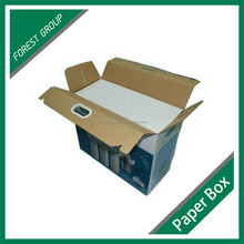 STURDY CUSTOM MADE GLOSSY PRINTING PACKAGING BOX CARDBOARD PAPER PACKING BOX WITH HANDLE FOR MACHINE PACKAGING