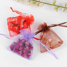 Mixed Colors Cheap Organza Jewelry Organza Sheer Perfume Pouch
