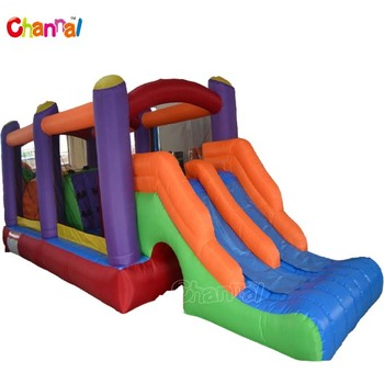 Inflatable nylon obstacle course for yard mini inflatable obstacle course