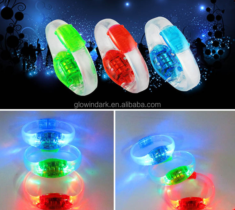 2016 made in China new party product LED sound activated Flashing bracelet