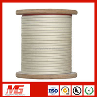 Hot Sale Single Fiber Glass Covered Aluminum Flat Wire