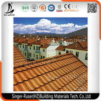 New Sunlight Popular Colorful Stone Chips Coated Steel Tile/Decorative Building Material Roofing