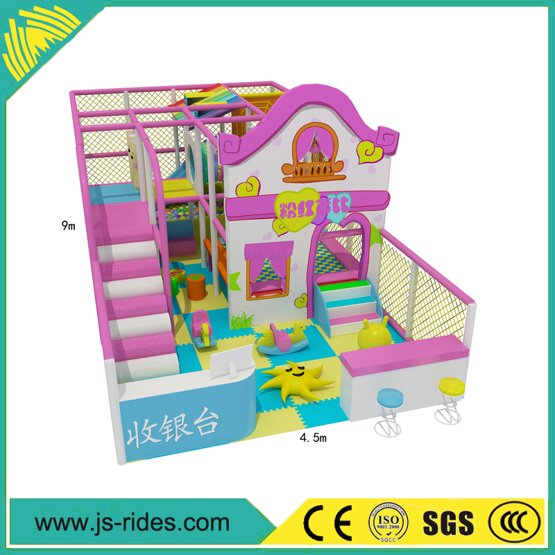indoor playground flooring naughty castle/kids fort sale