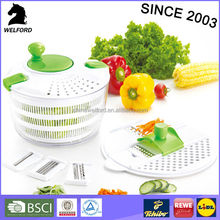 High quality hand-actuated swift chopper salad spinner with multi grater