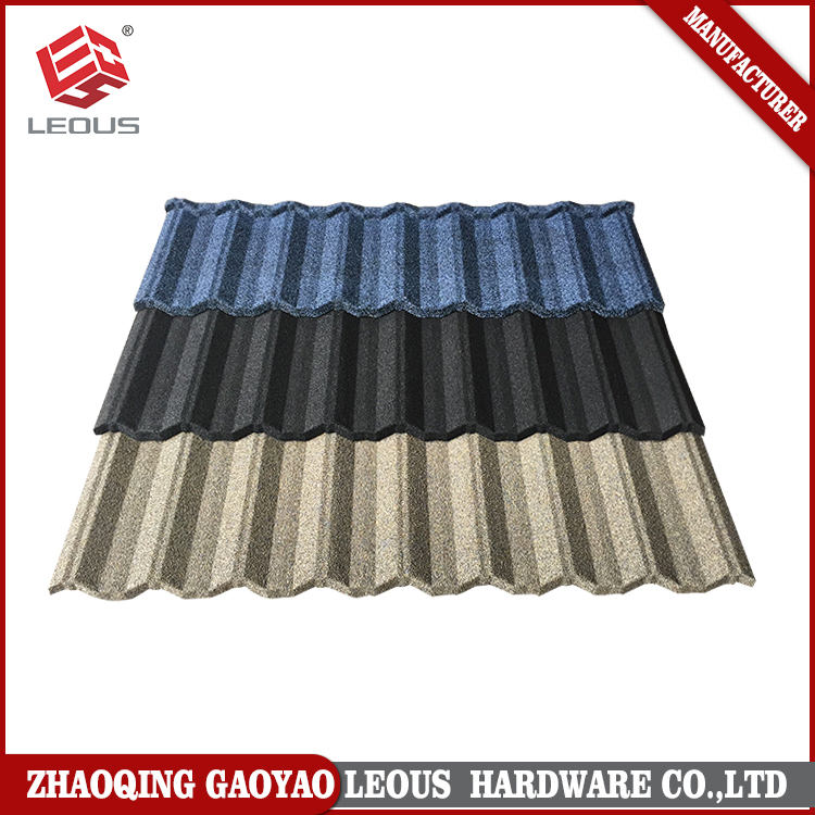 Building materials aluminum zinc coating steel ceramic roofing shingles