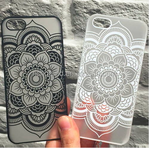 Colorful Floral Paisley Flower Henna Matte Hard Plasic Cases For iPhone 7 7Plus 5 5G 5S 5C SE 6 6G 6S 6Plus