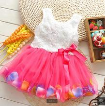 new style korean cute multicolor bitter baby girls tutu dress fleabane fashionable pictures kids flower dress