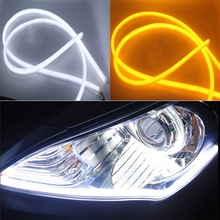 Flexible LED DRL 45cm 60cm 85cm Tube 12V Car Daytime Running Lights Waterproof Auto Lights