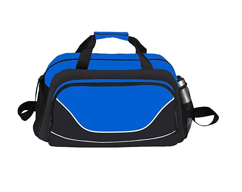 600D Polyester All Purpose Lightweight Sports Duffel Gym Bag with Shoe Tunnel Compartment