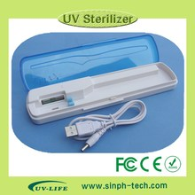 2015 new UV Light ozone toothbrush sterilizer with toothpaste holder