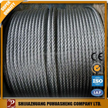 Gold supplier China 6*19 galvanized steel wire ropes 16mm