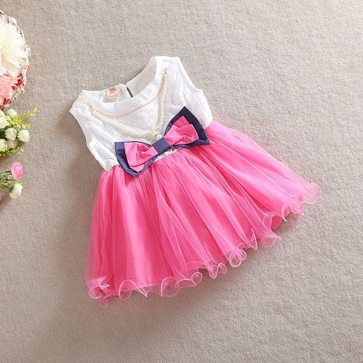 Newest sale simple design party beautiful kids girl dress for wholesale