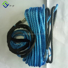 8mm x 30meters grey color synthetic winch rope with hook & hawse fairlead