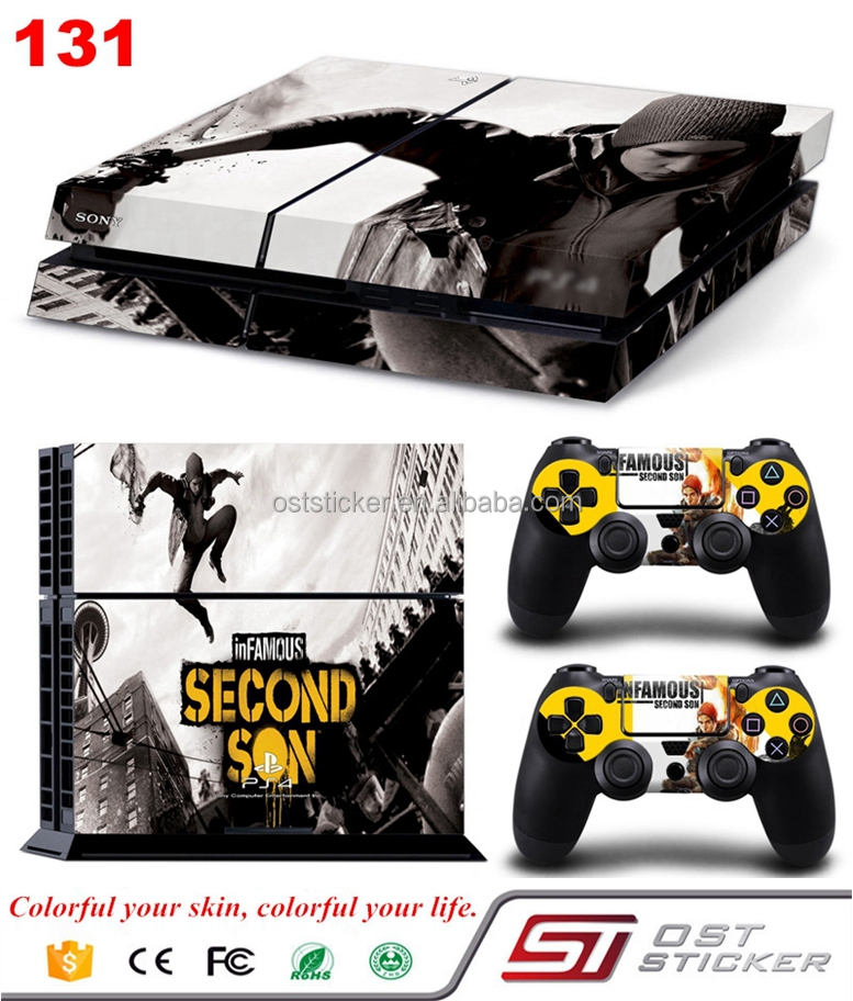Console skin for ps4 Cool Vinyl Decal Protective Skin Sticker for PlayStation 4
