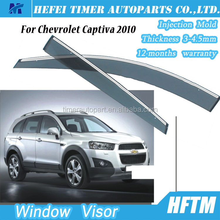 Custom car accessories air deflector window shields visor for Chevrolet Captiva 2010