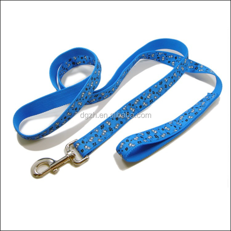 Dog Leashes made of polyester and silk printing satin