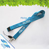 2017 silk screen printed polyester neck lanyard with buckle release and cell phone string