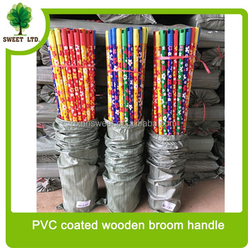 Round wood handle for mop broom