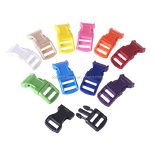 Fashion High Quality Plastic Curved Colored Side Release Buckle