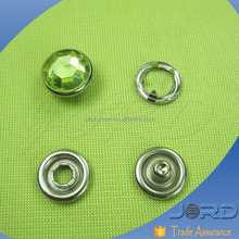 Custom Decorative Brass Metal Ring/Cap/Pearl Five Prong snap Press Snap Fasteners Buttons with four parts for Baby Garments