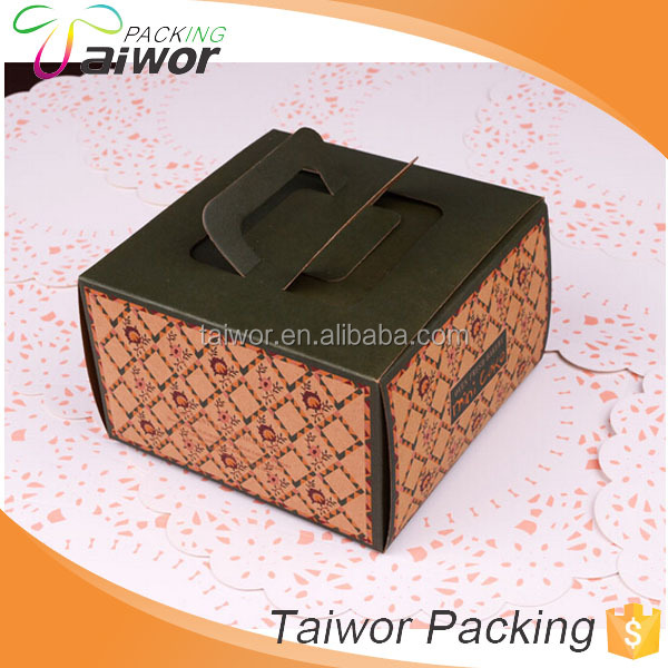 High Quality Cheap Customized Packaging Box Clear Front Load Window Cake Box