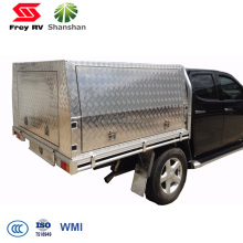 2100x1800x860mm Lockable Checker Plate Ute Aluminum Truck Canopy