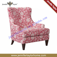 Modern European style colourful fabric one seat sofa for living room