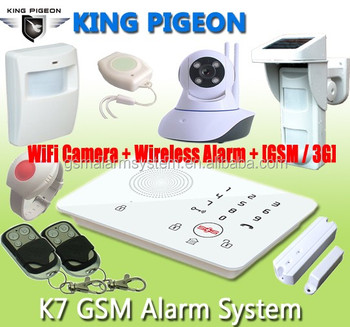 GSM Security Guard System/ Burglar Alarm, Fire Alarm, Medical Alert / with best home safety product K7