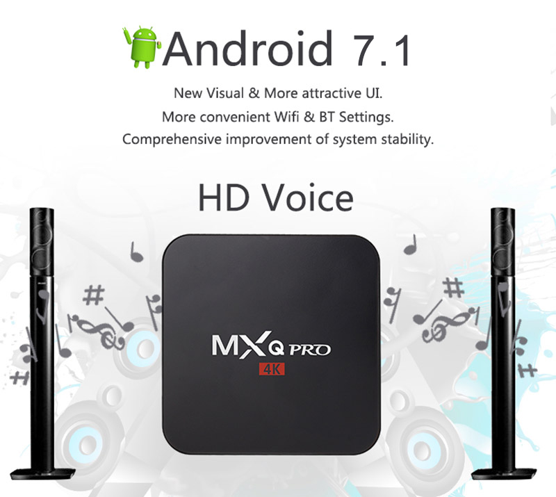 2019 venta al por mayor Amlogic S905X S905W MXQ PRO 4 K Ott Smart Android 7,1 Rk3229 mejor oferta Android Tv Box