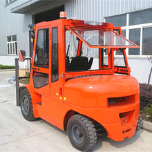 automatic type 4-5ton diesel engine powered fork lift trucks with driver's cabin