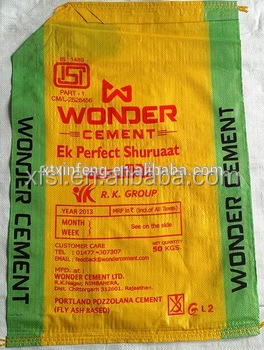 pp woven cement packaging bag with valve