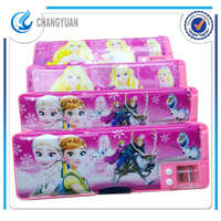 Personalized gifts advertising korean stationery multi function frozen elsa anna pencils cases with compartments