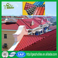 ISO-9001 certificated heat insulation PVC roof tile/pvc waterproof roof shingle/corrugated roof panel