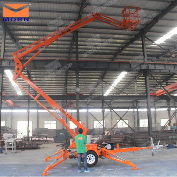 16m towable trailer mounted hydraulic spider man lift