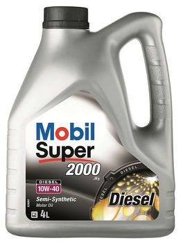 Mobil Super 2000 X1 Diesel 10W-40, 4 Litre - Semi-Synthetic Engine Oil