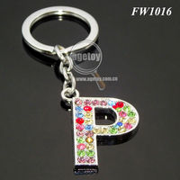 Promotional Alloy Letter P Key Chains
