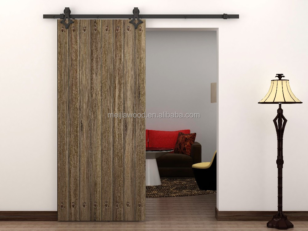 glazed barn door slab sliding door design with hardware lowest price