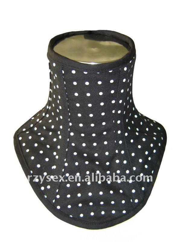 Black with White Dots Neck corset