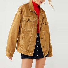 online shopping usa pointed collar denim jacket women