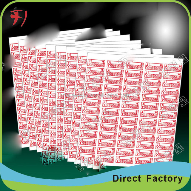 Very Brittle Ultra Destructible Vinyl Materials,Fragile Destructive Vinyl Materials,Eggshell Security Sticker Papers