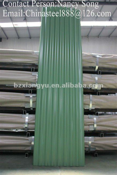 0.50MM blue PPGI Steel Roofing/Hardness Roofing/Corrugated Steel Roofing Sheets